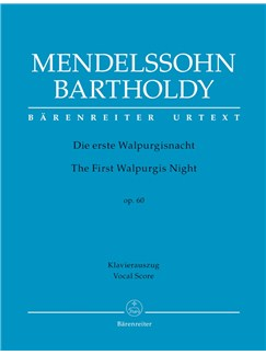 F. Mendelssohn: The First Walpurgis Night Op.60 (Vocal Score) Books | Choral, Orchestra