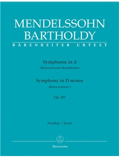 F. Mendelssohn: Symphony No.5 In D, Op.107 - Reformation (Full Score) Books | Orchestra