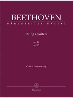 Ludwig Van Beethoven: String Quartets Op.74 & Op.95 (Critical Report) Books   String Quartet