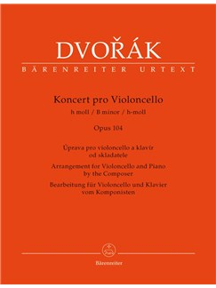 A. Dvorák: Cello Concerto In B Minor Op.104 (Cello & Piano) Books | Cello, Piano Accompaniment