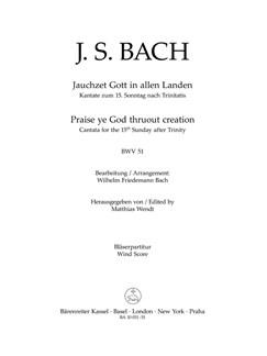 J. S. Bach: Cantata No. 51 - BWV 51 (Trumpet) Books | Choral, Orchestra