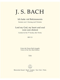 J.S. Bach: Cantata No. 21 - BWV 21 (Viola) Books | Choral, Orchestra