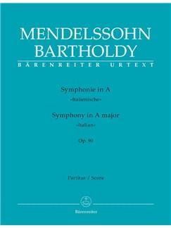 F. Mendelssohn: Symphony No.4 In A Op.90 - Italian (Full Score) Books | Orchestra