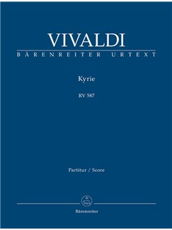 A.  Vivaldi: Kyrie In G Minor RV 587 (Full Score) Books | Choral, Orchestra