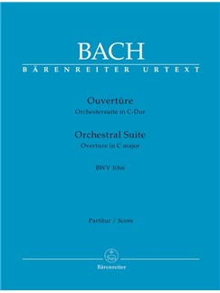 J.S. Bach: Orchestral Suite - Overture No.1 In C BWV 1066 (Full Score) Books | Orchestra