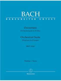 J.S. Bach: Orchestral Suite - Overture No.3 In D BWV 1068 (Full Score) Books | Orchestra