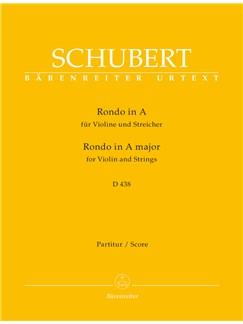 Franz Schubert: Rondo For Violin And Strings In A D.438 - Score Books | Violin, Orchestra