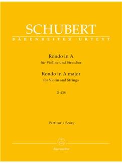 Franz Schubert: Rondo For Violin And Strings In A D.438 - Score Books   Violin, Orchestra