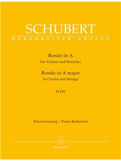 Franz Schubert: Rondo For Violin And Strings In A D.438 - Piano Reduction Libro | Violín, Acompañamiento de Piano