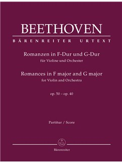 Ludwig Van Beethoven: Romances In F And G For Violin And Orchestra Op.50, 40 (Score) Books | Violin, Orchestra