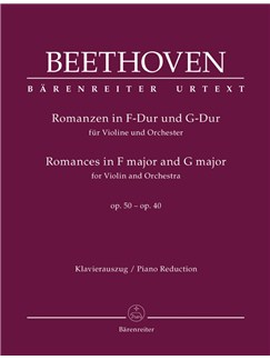 Ludwig Van Beethoven: Romances In F And G For Violin And Orchestra Op.50, 40 (Piano Reduction) Books | Violin, Piano Accompaniment