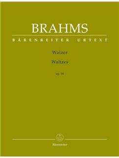 Johannes Brahms: Waltzes Op.39 - Urtext Books | Piano