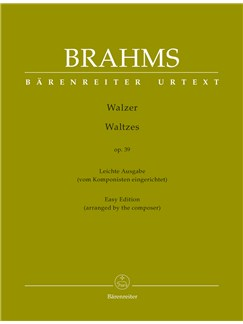 Johannes Brahms: Waltzes Op.39 (Easy Edition) - Urtext Books | Piano