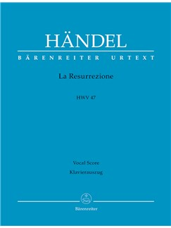 G.F. Handel: La Resurrezione HWV 47 (Italian) (Urtext) Books   Choral, SATB, Piano Accompaniment