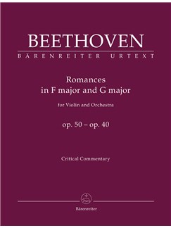 Ludwig Van Beethoven: Romances In F And G For Violin And Orchestra Op.50, 40 (Critical Report) Books | Violin, Orchestra