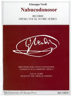Giuseppe Verdi: Nabucodonosor - Opera Vocal Score Books | Opera Vocal Score