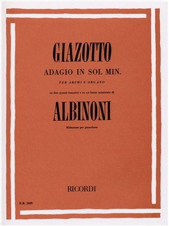 Tomaso Albinoni/Remo Giazotto: Adagio In G Minor (Piano Solo) Books | Piano
