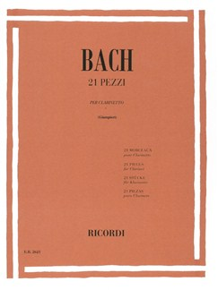 J.S. Bach: 21 Pieces For Clarinet Books | Clarinet