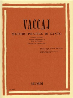 Nicola Vaccai: Practical Vocal Method (Soprano Or Tenor) Bog og CD | Høj stemme, Klaverakkompagnement