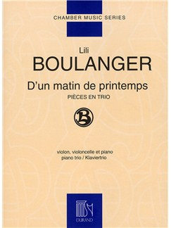 Lili Boulanger: D'un Matin De Printemps (Piano Trio) Books | Violin, Cello and Piano