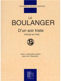 Lili Boulanger: D'Un Soir Triste (Piano Trio) Books | Piano Trio