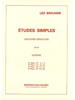 Leo Brouwer: Etudes Simples - 1st Serie Books | Guitar