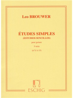 Leo Brouwer: Etudes Simples - 3rd Serie Books | Guitar