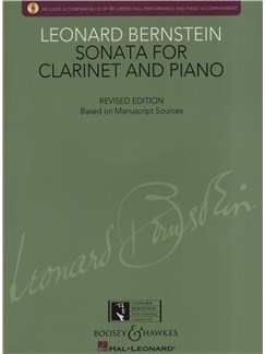 Leonard Bernstein: Sonata For Clarinet And Piano - Revised Edition Books and CDs | Clarinet, Piano Accompaniment