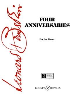 Leonard Bernstein: Four Anniversaries Books | Piano