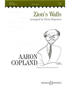 Aaron Copland: Zion's Walls (SATB) Books | SATB