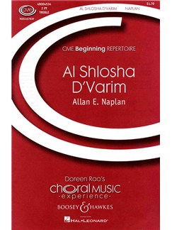 Allan E. Naplan: Al Shlosha D'Varim Books | Piano Accompaniment, 2-Part Choir