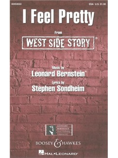 Leonard Bernstein: I Feel Pretty (West Side Story) - SSA Books | SSA, Piano Accompaniment