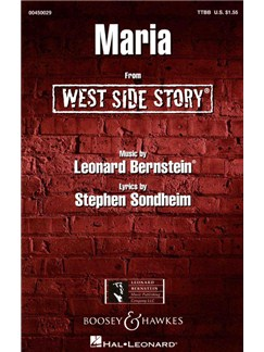 Leonard Bernstein: Maria (West Side Story) - TTBB Books | TTBB, Piano Accompaniment
