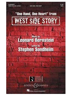 Leonard Bernstein: One Hand, One Heart (West Side Story) - SATB/Piano Books | SATB, Piano Accompaniment