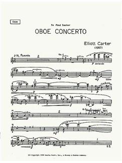 Elliott Carter: Oboe Concerto (Part Only) Books | Oboe