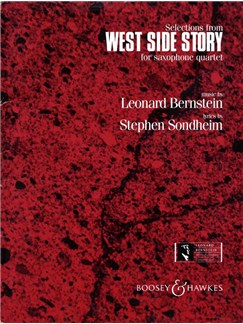 Leonard Bernstein: West Side Story Selections (Saxophone Quartet) (Score/Parts) Books | Saxophone (Quartet)