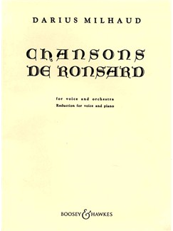 Darius Milhaud: Chansons De Ronsard Books | High Voice, Piano Accompaniment