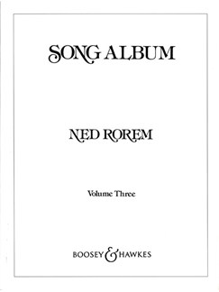 Ned Rorem: Song Album - Volume Three Books | Voice, Piano Accompaniment