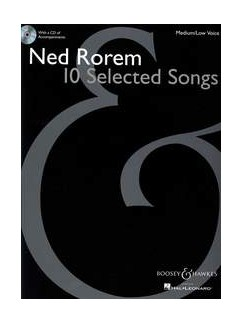 Ned Rorem: 10 Selected Songs Books and CDs | Medium Voice, Low Voice, Piano Accompaniment