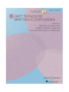 15 Art Songs By British Composers (Low Voice/Piano) Books and CDs | Low Voice, Piano Accompaniment