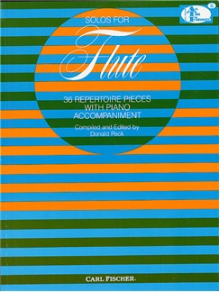 Solos For Flute: 36 Repertoire Pieces With Piano Accompaniment Books | Flute, Piano Accompaniment