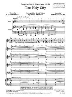 Stephen Adams: Holy City (Soprano/SATB) Books | Soprano, SATB