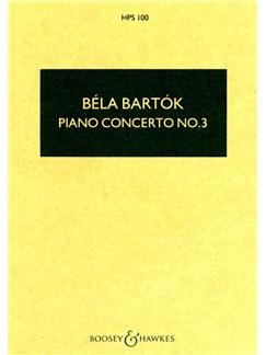 Bela Bartok: Piano Concerto No.3 (Hawkes Pocket Score) Books |