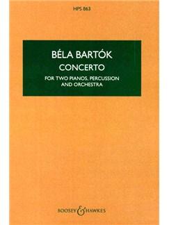Bela Bartok: Concerto For Two Pianos, Percussion And Orchestra (Study Score) Books | Two Pianos, Percussion, Orchestra