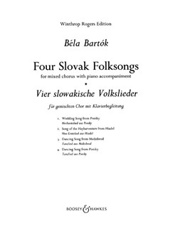 Bela Bartok: 4 Slovak Folk Songs Books | SATB, Piano Accompaniment