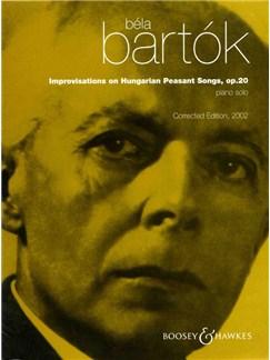 Bela Bartok: Improvisations On Hungarian Peasant Songs Op.20 Books | Piano