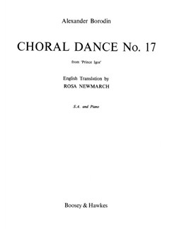 Alexander Borodin: Choral Dance No.17 From Prince Igor Books | SA