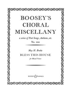 May H. Brahe: Bless This House (SATB) Books | SATB, Piano Accompaniment