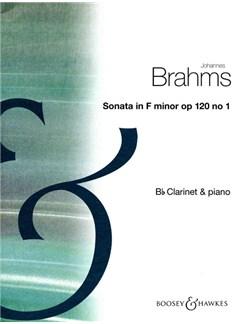 Johannes Brahms: Sonata Op.120 No.1 In F Minor Books | Clarinet, Piano Accompaniment