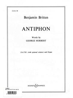Benjamin Britten: Antiphon Books   SATB, Organ Accompaniment